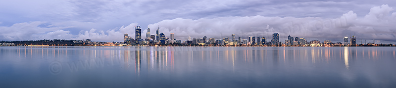 Perth and the Swan River at Sunrise, 16th April 2013