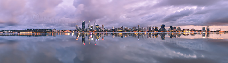 Perth and the Swan River at Sunrise, 20th April 2013