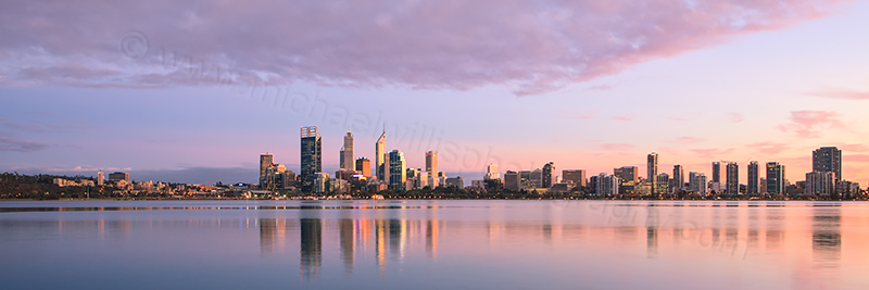 Perth and the Swan River at Sunrise, 23rd April 2013