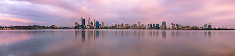 Perth and the Swan River at Sunrise, 22nd April 2013