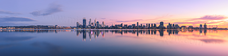 Perth and the Swan River at Sunrise, 28th April 2013