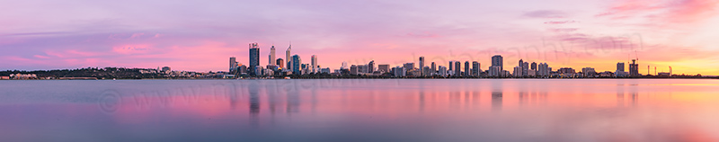 Perth and the Swan River at Sunrise, 29th April 2013