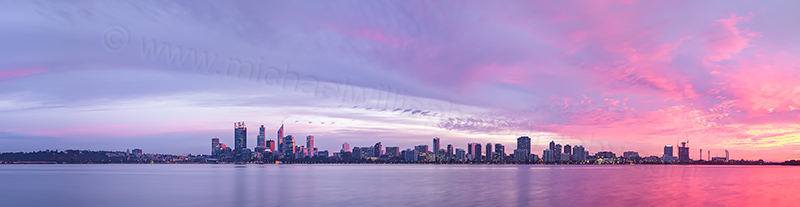 Perth and the Swan River at Sunrise, 1st May 2013