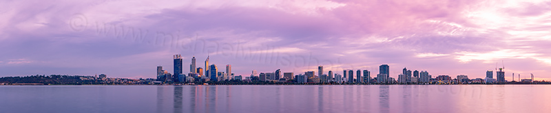 Perth and the Swan River at Sunrise, 6th May 2013