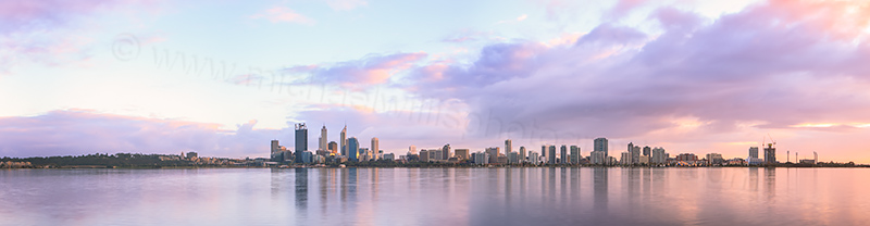 Perth and the Swan River at Sunrise, 11th May 2013