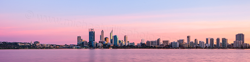 Perth and the Swan River at Sunrise, 13th May 2013