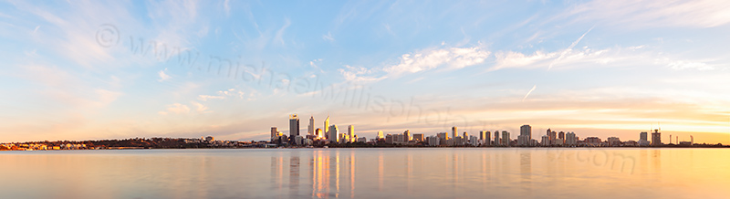Perth and the Swan River at Sunrise, 14th May 2013