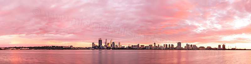 Perth and the Swan River at Sunrise, 16th May 2013
