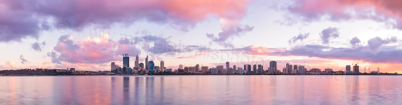 Perth and the Swan River at Sunrise, 17th May 2013