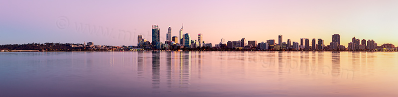 Perth and the Swan River at Sunrise, 21st May 2013