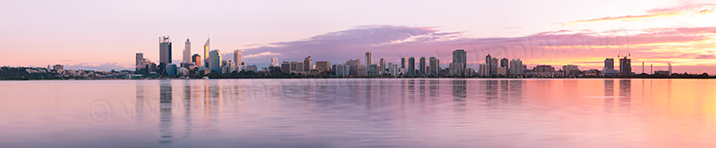 Perth and the Swan River at Sunrise, 29th May 2013