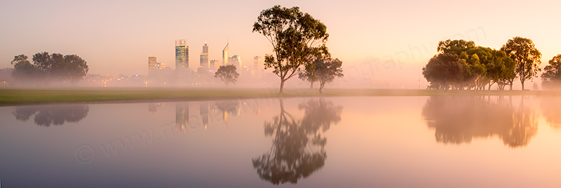 Misty Sunrise by the Swan River, 10th June 2013