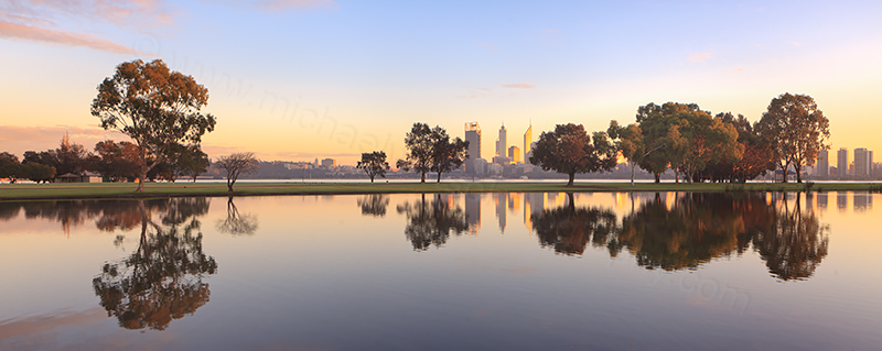Sunrise by the Swan River, 26th June 2013