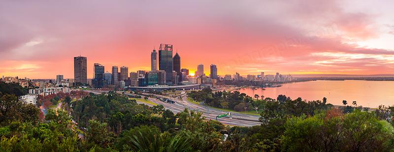 Perth Sunrise, 4th July 2013