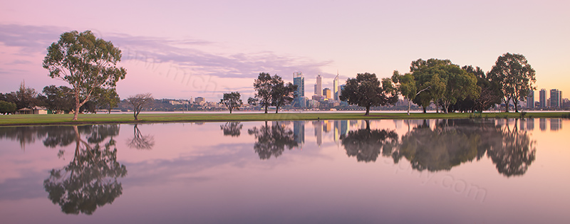 Sunrise by the Swan River, 5th July 2013