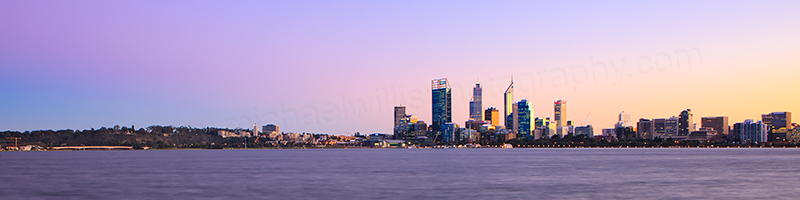 Perth and the Swan River at Sunrise, 23rd July 2013