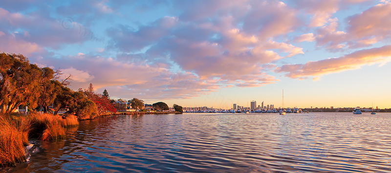 Applecross and The Swan River at Sunrise, 25th July 2013