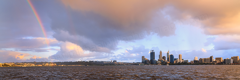 Perth and The Swan River at Sunrise, 15th August 2013