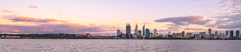 Perth and the Swan River at Sunrise, 4th October 2013