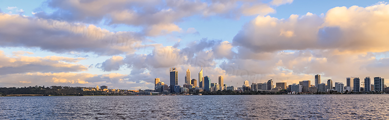 Perth and the Swan River at Sunrise, 6th October 2013