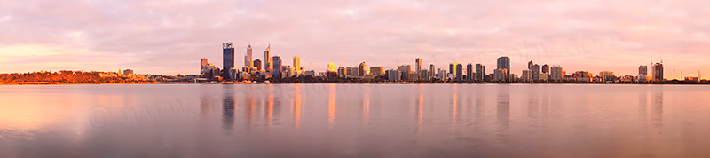 Perth and the Swan River at Sunrise, 15th October 2013