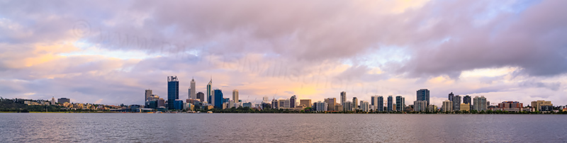 Perth and the Swan River at Sunrise, 16th October 2013