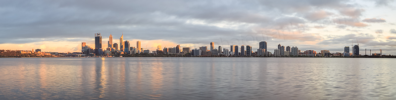 Perth and the Swan River at Sunrise, 20th October 2013