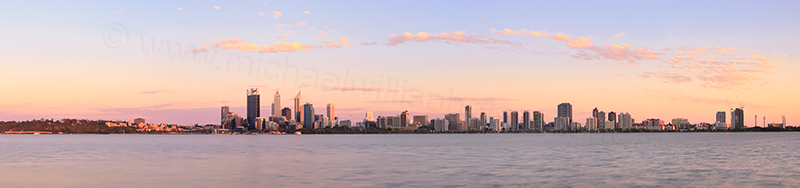 Perth and the Swan River at Sunrise, 16th November 2013