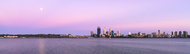 Perth and the Swan River at Sunrise, 19th November 2013
