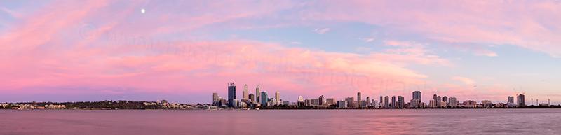 Perth and the Swan River at Sunrise, 20th November 2013
