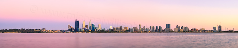 Perth and the Swan River at Sunrise, 23rd November 2013