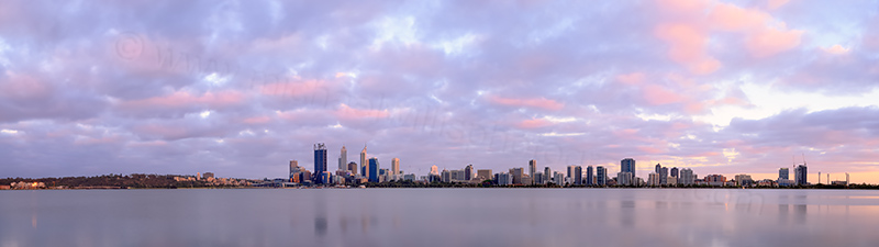 Perth and the Swan River at Sunrise, 2nd December 2013