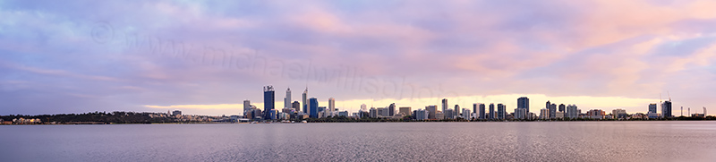 Perth and the Swan River at Sunrise, 3rd December 2013