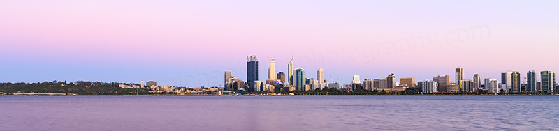 Perth and the Swan River at Sunrise, 5th December 2013