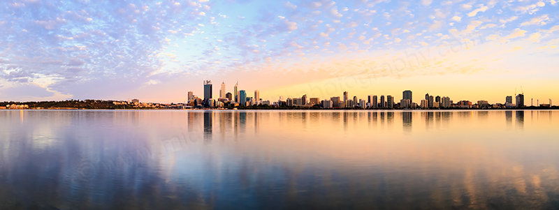 Perth and the Swan River at Sunrise, 7th December 2013