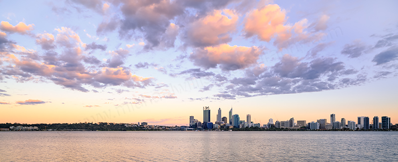 Perth and the Swan River at Sunrise, 6th December 2013