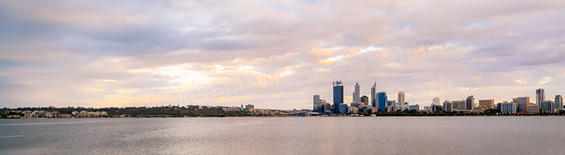Perth and the Swan River at Sunrise, 8th December 2013