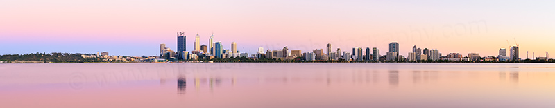 Perth and the Swan River at Sunrise, 9th December 2013