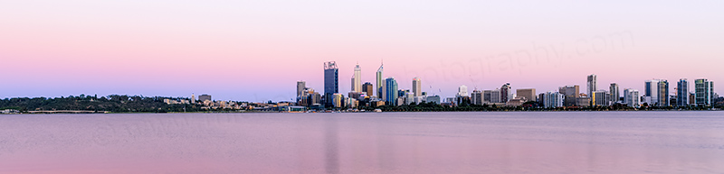 Perth and the Swan River at Sunrise, 10th December 2013