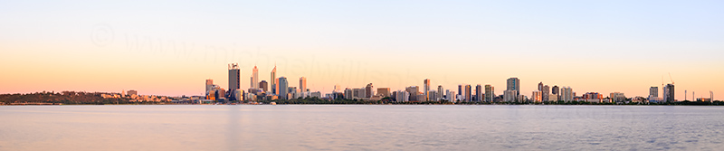 Perth and the Swan River at Sunrise, 12th December 2013