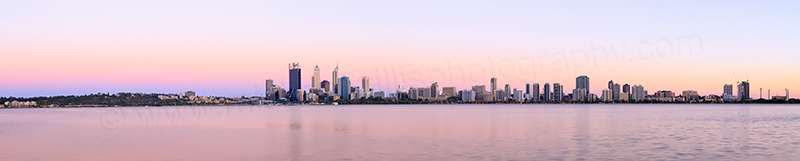 Perth and the Swan River at Sunrise, 13th December 2013