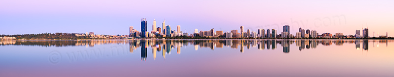 Perth and the Swan River at Sunrise, 14th December 2013