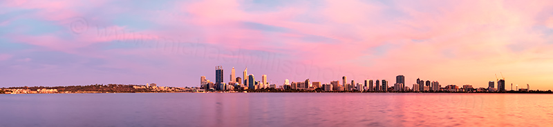 Perth and the Swan River at Sunrise, 16th December 2013