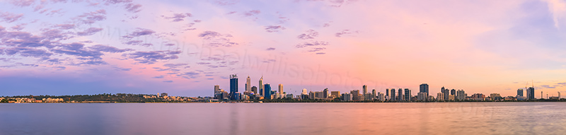 Perth and the Swan River at Sunrise, 17th December 2013