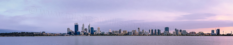 Perth and the Swan River at Sunrise, 18th December 2013