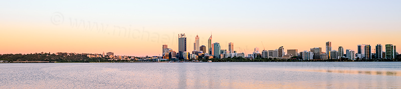 Perth and the Swan River at Sunrise, 20th December 2013