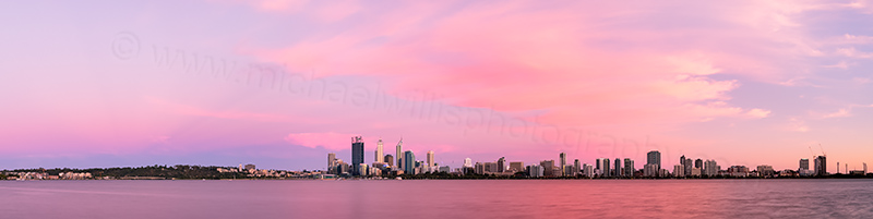 Perth and the Swan River at Sunrise, 22nd December 2013