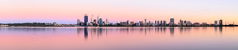 Perth and the Swan River at Sunrise, 23rd December 2013