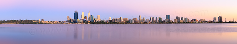 Perth and the Swan River at Sunrise, 29th December 2013
