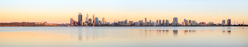 Perth and the Swan River at Sunrise, 30th December 2013